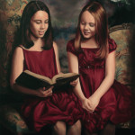 Custom-Paintings-Troy-MI-IMG_5492 two girls reading book