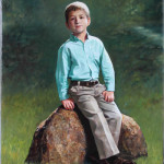 Custom-Paintings-Troy-MI-boy on rock